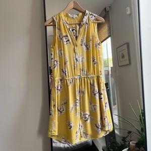 YELLOW FLORA DRESS